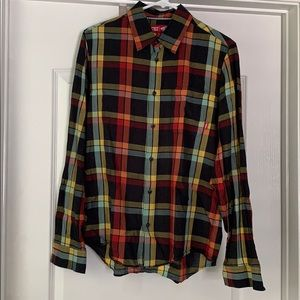 Vans multicolored, plaid long sleeve button up